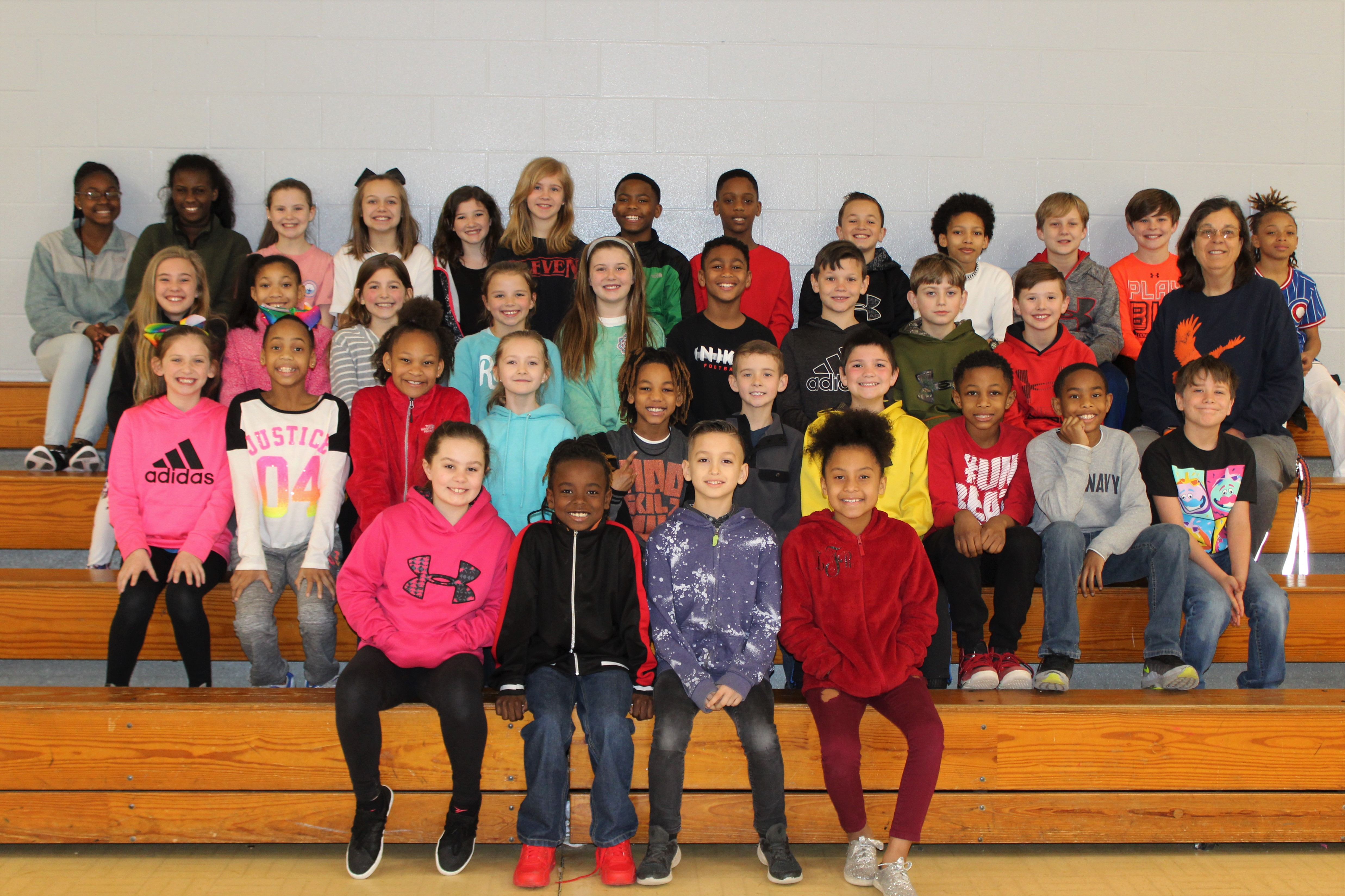 group photo of track team students